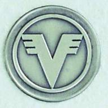 "Zinn-Emblem 50mm Organisationen ""Volksbank"""