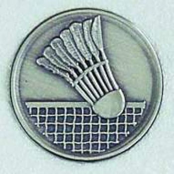 "Zinn-Emblem 50mm ""Badminton"""